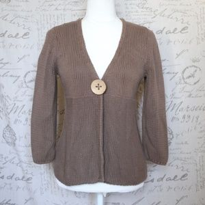 Boden Brown Single Button Cardigan Sweater
